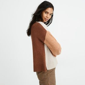 NWOT Madewell Colorblock Payton Sweater. Size M